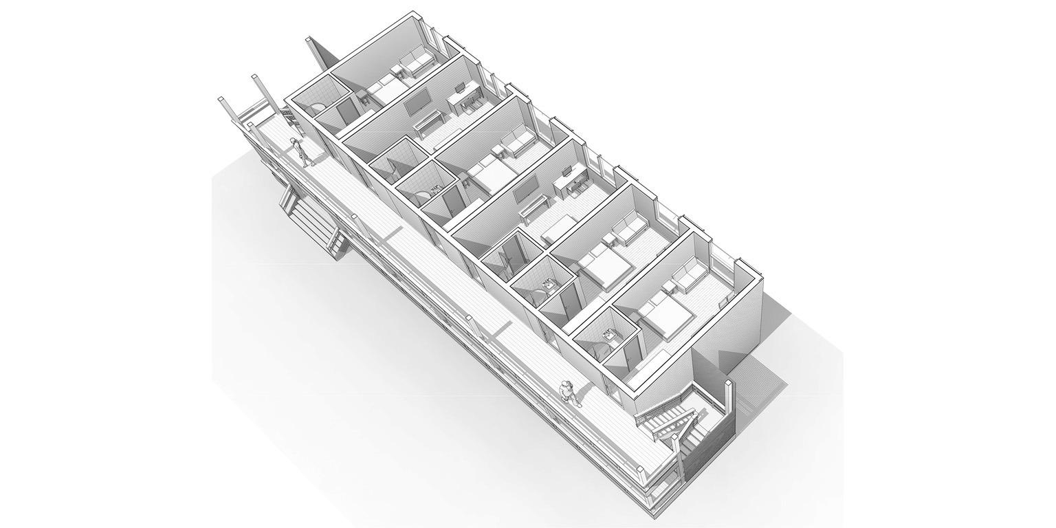 ECOMOTEL INDIVIDUAL, 2 этажа (15)